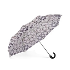 Ladies Marylebone Compact Umbrella in Monochrome. Umbrellas from Aspinal of London