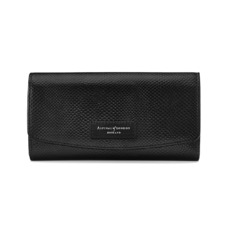 Brook Street Purse Wallet in Jet Black Lizard