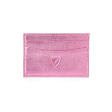 Slim Credit Card Case in Metallic Pink Nappa. Business & Credit Card Holders from Aspinal of London