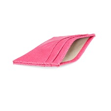 Slim Credit Card Case Pink Lizard & Cream Suede. Business & Credit Card Holders from Aspinal of London