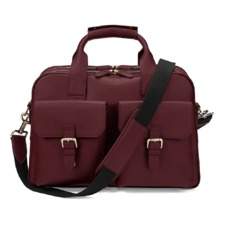 Harrison Overnight Business Bag in Smooth Burgundy. Mens Travel Bags from Aspinal of London