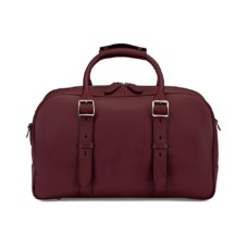 Small Harrison Weekender Travel Bag in Smooth Burgundy. Mens Travel Bags from Aspinal of London