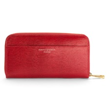 Continental Clutch Zip Wallet in Berry Lizard