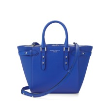 Marylebone Mini in Smooth Matte Cobalt Blue. Handbags & Clutches from Aspinal of London