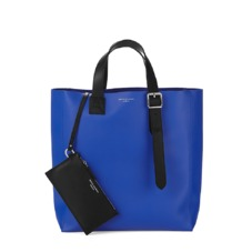 The 'A' Tote in Smooth Cobalt Blue. Mens Messenger Bags from Aspinal of London