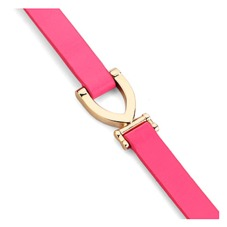 Stirrup Bracelet in Smooth Neon Pink. Cuff Bracelets from Aspinal of London