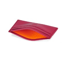 Slim Credit Card Case in Smooth Deep Fuchsia. Business & Credit Card Holders from Aspinal of London