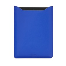 iPad Mini Sleeve in Smooth Cobalt Blue & Black Suede. Outlet from Aspinal of London