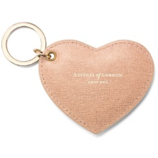 Heart Key Ring in Deer Saffiano