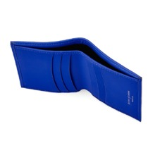Double Credit Card Case with Notes Pocket in Smooth Cobalt Blue. Business & Credit Card Holders from Aspinal of London