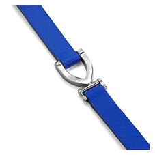 Stirrup Bracelet in Smooth Cobalt Blue. Cuff Bracelets from Aspinal of London