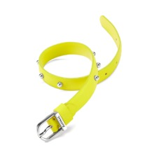 Marylebone Buckle Bracelet in Smooth Chartreuse Yellow. Cuff Bracelets from Aspinal of London