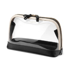 Large Hepburn Cosmetic Case in Clear Monochrome