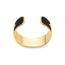 Athena Cuff Bracelet in Black Python. Cuff Bracelets from Aspinal of London