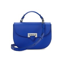 Letterbox Saddle Bag in Smooth Cobalt Blue. Handbags & Clutches from Aspinal of London