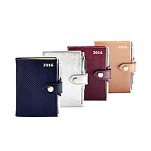 Mini Pocket Leather Diary & Pen. Leather Diaries from Aspinal of London