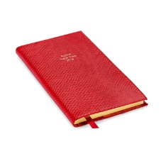 The Aspinal Social Diary in Berry Lizard. Slim Pocket Leather Diary from Aspinal of London