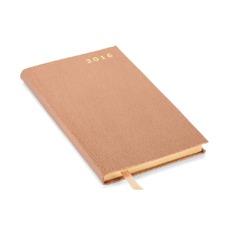 Slim Pocket Week to View Leather Diary in Deer Saffiano. Slim Pocket Leather Diary from Aspinal of London