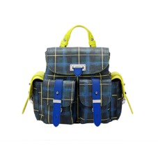 The être cécile Mini Letterbox Rucksack in Forest Green Plaid. Handbags & Clutches from Aspinal of London