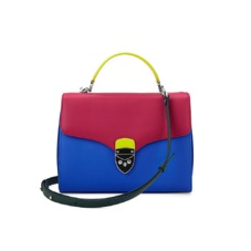 The être cécile Mayfair Bag in Cobalt Blue & Deep Fuchsia. Handbags & Clutches from Aspinal of London