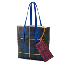 The être cécile Essential Tote in Forest Green Plaid. Handbags & Clutches from Aspinal of London
