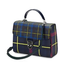 The être cécile Mayfair Bag in Navy Plaid. Handbags & Clutches from Aspinal of London