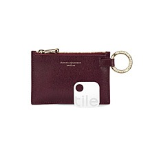 Tile Tracker & Keyring Pouch. Leather Travel Goods from Aspinal of London