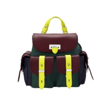 Aspinal x être cécile Mini Letterbox Rucksack in Burgundy. Handbags & Clutches from Aspinal of London
