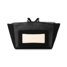 Marylebone Oversized Day Clutch in Black Pebble. Handbags & Clutches from Aspinal of London