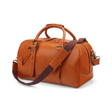 Small Harrison Weekender Travel Bag in Smooth Tan