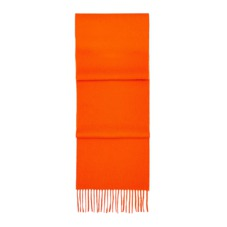 Pure Cashmere Scarf in Amber Orange. Mens Cashmere & Wool Scarves from Aspinal of London