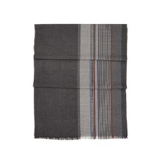 Sports Stripe Merino Wool Scarf in Grey. Mens Cashmere & Wool Scarves from Aspinal of London