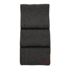 Rib Knit Cashmere Blend Scarf in Charcoal. Ladies Cashmere Scarves from Aspinal of London
