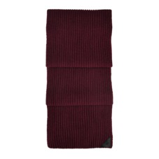 Rib Knit Cashmere Blend Scarf in Burgundy. Mens Cashmere & Wool Scarves from Aspinal of London