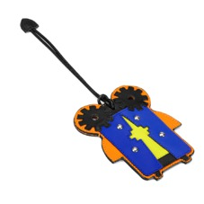 Cook The Cyber Bug Luggage Tag. Outlet from Aspinal of London