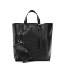 The 'A' Tote in Black Saffiano. Mens Messenger Bags from Aspinal of London