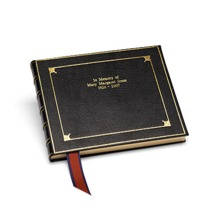Deluxe Condolence Book in Black. Condolence Books from Aspinal of London