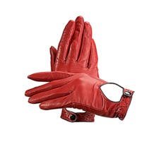 Ladies Leather Driving Gloves in Red. Ladies Leather Driving Gloves from Aspinal of London