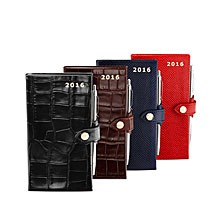 Slim Pocket Leather Diary & Pen. Leather Diaries from Aspinal of London