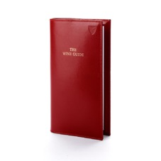 Wine Guide in Smooth Red & Beige Suede. Wine Guide from Aspinal of London