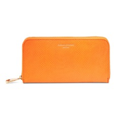 Continental Clutch Zip Wallet in Orange Lizard