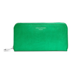 Continental Clutch Zip Wallet in Grass Green Lizard
