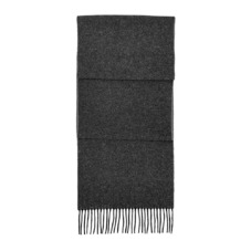 Reversible Cashmere Blend Scarf in Black & Grey. Mens Cashmere & Wool Scarves from Aspinal of London