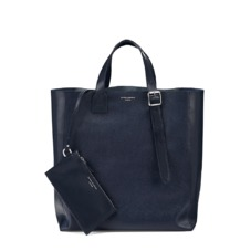 The 'A' Tote in Navy Saffiano. Mens Messenger Bags from Aspinal of London