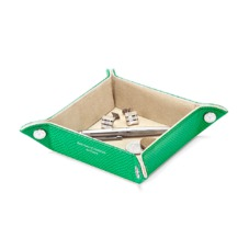 Mini Tidy Tray in Grass Green Lizard & Cream Suede