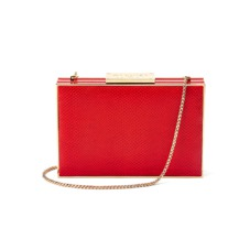 Scarlett Box Clutch in Berry Lizard. Handbags & Clutches from Aspinal of London