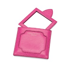 Marylebone Compact Mirror in Raspberry Lizard