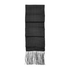 Men's Polka Dot Silk Scarf in Black. Mens Cashmere & Wool Scarves from Aspinal of London