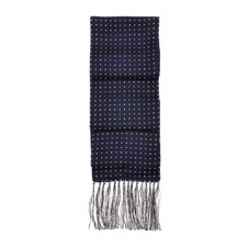 Men's Polka Dot Silk Scarf in Navy. Mens Cashmere & Wool Scarves from Aspinal of London
