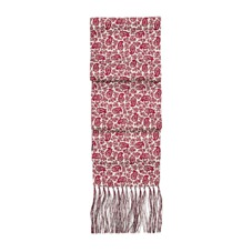 Men's Paisley Silk Scarf in Berry Red. Mens Cashmere & Wool Scarves from Aspinal of London